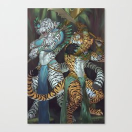 Waver of Power Tigers Canvas Print