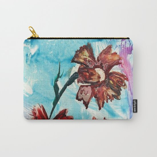 Brown flowers Carry-All Pouch