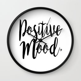 Positive Mood Lettering-PM coll Wall Clock