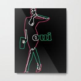 'Neon Fashion Art' Metal Print