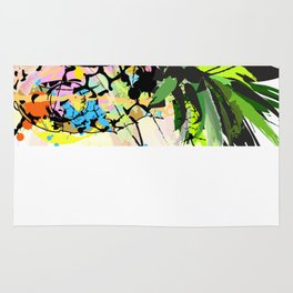 Abstract Watercolor Pineapple Rug