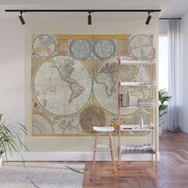 A General Map of the World - Laurie 1794 Wall Mural