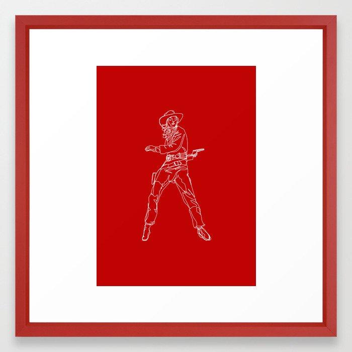 Crimson Cowgirl Framed Art Print