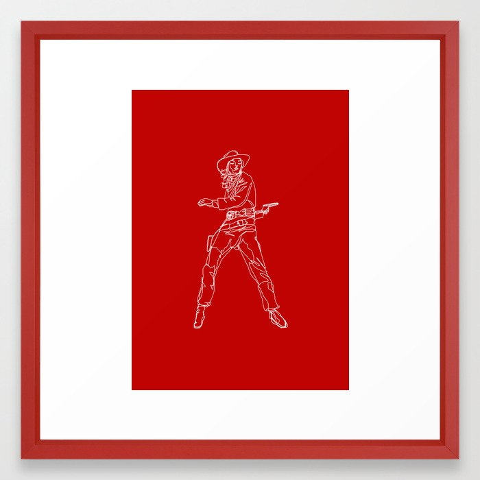 Crimson Cowgirl Framed Art Print