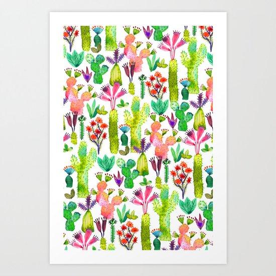 Cacti garden Art Print