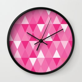 Harlequin Print Pinks Wall Clock