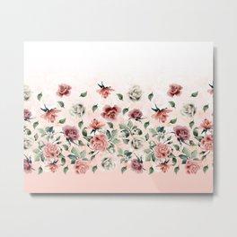 Border Flowers Metal Print