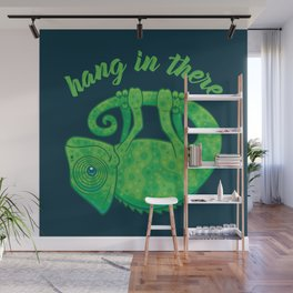 Hang In There Magical Chameleon Wall Mural