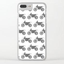 Grey Dirt Bikes Clear iPhone Case