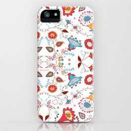 Spice Garden on White iPhone Case
