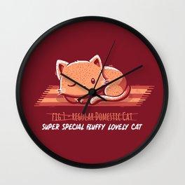 Not a Regular Domestic Cat Red Wall Clock