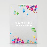 vampire weekend Stationery Cards featuring Vampire Weekend  2 by alboradas