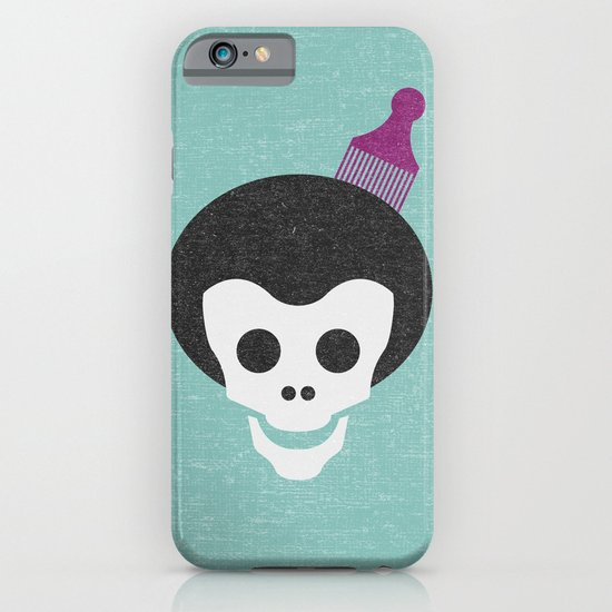 Skull with Fro. iPhone & iPod Case