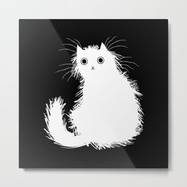 Moggy (No.1) white version Metal Print
