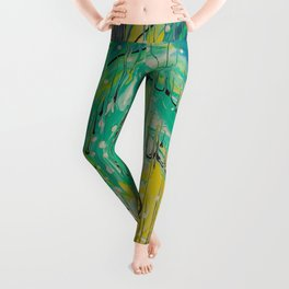 Free abstract Leggings