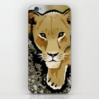 lesbian iPhone & iPod Skins featuring The Lesbian & the Lioness by BinaryGod.com