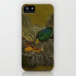 Mallards Having A Meal iPhone Case
