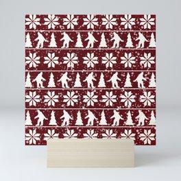 Christmas Bigfoot Mini Art Print