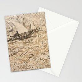 Boats at Saintes-Maries by Vincent van Gogh, 1888 Stationery Cards