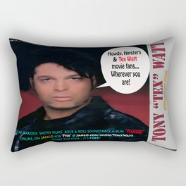 "The Tony 'Tex' Watt Jango Radio ""Plugged"" Album Poster Rectangular Pillow"