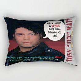 """The Tony 'Tex' Watt Jango Radio """"Plugged"""" Album Poster Rectangular Pillow"""