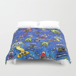 Little Robots  Duvet Cover