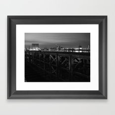 Thames Crossing - Woolwich Ferry Framed Art Print