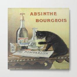 Vintage poster - Absinthe Bourgeois Metal Print