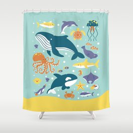Sea Animals Shower Curtain