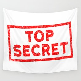 Top Secret Red Rubber Stamp Wall Tapestry