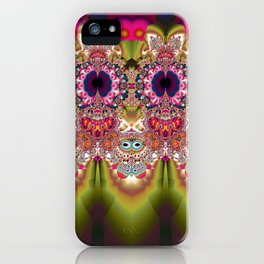 Cute Little Owl Goes Out iPhone Case