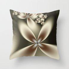 Flower Fractal Throw Pillow