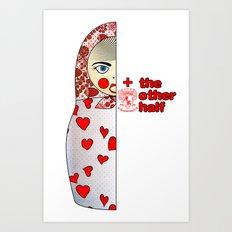 Matryoshka Hearts Right Art Print
