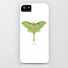 Luna Moth (Actias luna) II iPhone Case