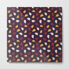 Colorful leaf seamless pattern design background Metal Print