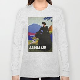 Abruzzo Italian travel Lady on a walk Long Sleeve T-shirt