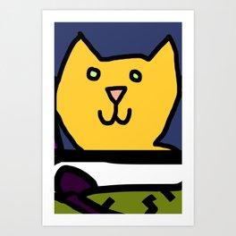 Woman yelling at cat Meme - Detail 3 Art Print