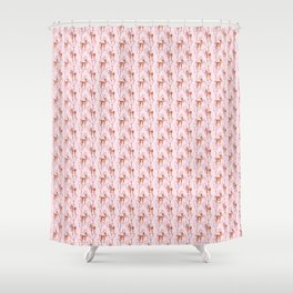 Cherry blossom and fawns Shower Curtain