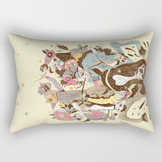 The Great Horse Race! Rectangular Pillow