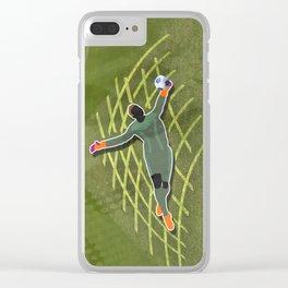 Soccer Goalkeerper Clear iPhone Case