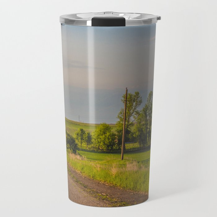 Country Road, North Dakota 23 Travel Mug
