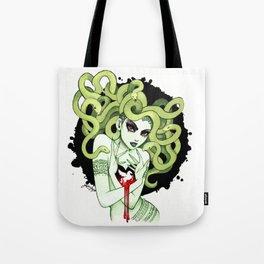 Medusa in Vignette Tote Bag