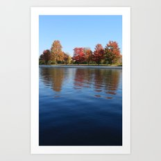 Autumn Reflections in the Rideau Canal Art Print