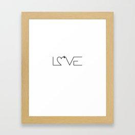 Love x3 Framed Art Print