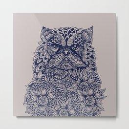 Mandala of Persian Cat Metal Print