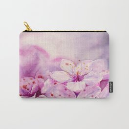 Cherry Blossom ,Sakura , Hanami - Art Watercolor Painting by Suisai Genki  Carry-All Pouch