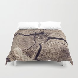 Cracks in Time Duvet Cover
