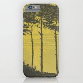 Art Nouveau Pines iPhone Case