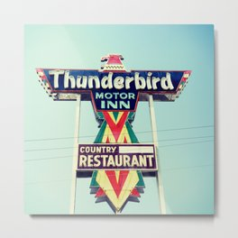 Thunderbird Motor Inn, South Carolina Metal Print