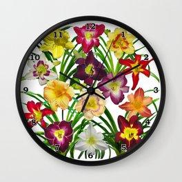 Display of daylilies I Wall Clock